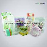 Cilindro plástico transparente de alimentos bolsa de plástico para la ropa