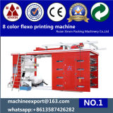 8 Farbe Label Flexo Printing Machine Made in China