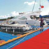 浮遊ポンツーン(HT1)による浮遊ボートのドックの造り