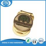 Clip placcate oro unico superiore dei soldi di metallo di disegno