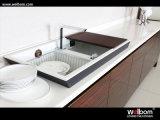 Conception modulaire peinte moderne de cuisine de qualité