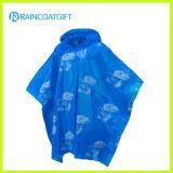Fördernder wegwerfbarer PET Regenmantel Rpe-028A