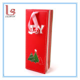 Мешок упаковки бутылки вина рождества Customed картины рождественской елки & подарка печатание бумажный