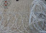Загородка колючей проволоки бритвы плоского обруча Concertina