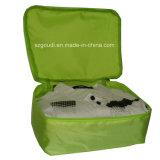 旅行荷物の記憶のスーツケースのパッキング立方体は下着のオルガナイザー袋に着せる