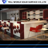 Barra da loja do café do contador da recepção do caixa do serviço do café da qualidade superior