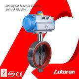 Válvula de borboleta sanitária pneumática do aço inoxidável