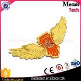 Oro plateado alrededor de divisa suave del Pin de la solapa del pájaro del metal del esmalte