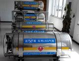 Tanque de armazenamento criogênico chinês de GNL do aço inoxidável de boa qualidade para o caminhão, barramento, carro