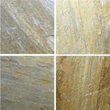 Hot Yellow Natural Slate Stone pour l'ingénierie et la décoration murale