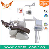 Cadeira dental de couro real aprovada de venda quente do CE da alta qualidade com luz do sensor do diodo emissor de luz