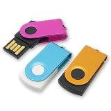 Mini accionamiento de disco de destello del USB del mejor del regalo eslabón giratorio del alumbrador