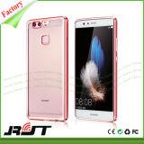 Casos de borracha de cristal do chapeamento da caixa TPU do telefone para Huawei P9
