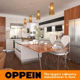 Armadio da cucina modulare di legno moderno della lacca di progetto del Vietnam grande (OP15-L22)