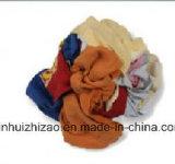 Verwendete bunte Baumwolle, die Rags abwischt