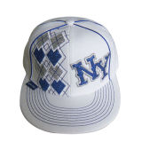 Вышитая приспособленная бейсбольная кепка с плоским пиком (NE033)