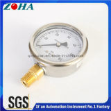 Demi en acier inoxydable Bottom Thread Type Pressure Gauge