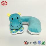 Descanso seguro azul da garganta do bebê do OEM do padrão do hipopótamo