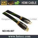 2016 Heet verkoop de Geplateerde Kabel HDMI van de Hoge snelheid Goud