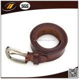 Cinghia di cuoio reale professionale del Brown di vendita di marca calda della parte superiore
