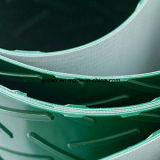 PVC緑のシェブロンまたはヘリンボンのコンベヤーベルト