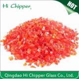 Ajardinar o vidro lasca sucatas vermelhas claras do espelho de vidro da polpa