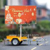 Afficheurs LED de publicité mobiles montés par remorque de la CE En12966 RVB