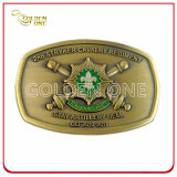 Fábrica de suprimentos Antique Brass Plated Metal Belt Buckle