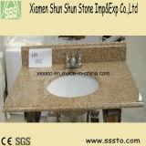 Dessus jaunes populaires de vanité du granit G682 de la Chine pour la salle de bains