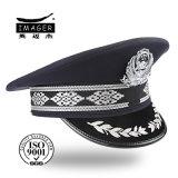 China-normale Polizei bedeckt mit silberner Stickerei mit einer Kappe
