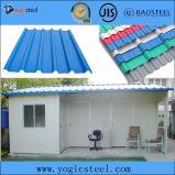 Strati d'acciaio ondulati galvanizzati del tetto ricoperti colore di PPGI