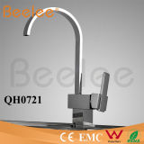 Nouvel Oblate Goose Neck Single Handle Number de Handles Brass Chrome Kitchen Water Tap Mixer Faucet