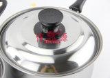 Singolo POT del cuoco della maniglia dell'acciaio inossidabile (FT-01603)