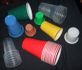 Volles automatisches Plastikcup, das maschinelle Herstellung-Zeile bildet
