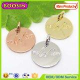 Charme van de Markering van het Embleem van de Juwelen van het Metaal van de douane de Goud Gegraveerde voor Armband