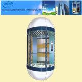 Elevatore facente un giro turistico di osservazione di vetro all'ingrosso del semicerchio
