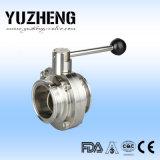 Fabricante sanitario de la válvula de mariposa Dn25 de Yuzheng