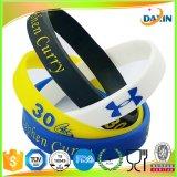 Bracelete do silicone com logotipo da impressão da tela de seda para vendas