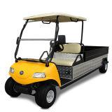 Carro elétrico da carga de 2 Seater com a caixa da carga de 1.4m no armazém