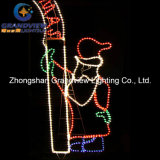 250cm Wide LED 산타클로스 Christmas Tree와 Arch Door Motif Rope Lights