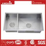 acier inoxydable de pouce 17X33 sous le bassin de cuisine fabriqué à la main de support