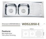 Dissipador Wds12050-E de formação de duas partes da lavagem do aço inoxidável