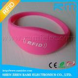 Wristband do silicone de 125kHz/13.56MHz RFID impermeável para eventos/atividades