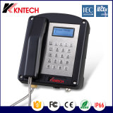 Telefone Kntech Knex1 de baixa emissão de ruído e explosão para mina de carvão industrial