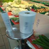 Sacchetto piano di plastica del PE della drogheria su Rolls per alimento