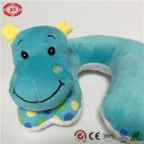 Almohadilla segura azul del cuello del bebé del OEM del estándar del hipopótamo