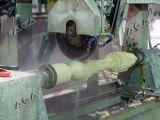 ブラウンカラー(SYF1800)の石造りの柱機械