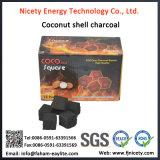 Charbon de bois fait à la machine de narguilé de tablette d'interpréteur de commandes interactif de noix de coco dans cubique pour Shisha