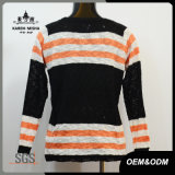 Chandail rayé de pull d'automne de mode de femmes