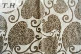 Tela 2016 del sofá del telar jacquar con el diseño del modelo del amor y algodón y lino de la mezcla